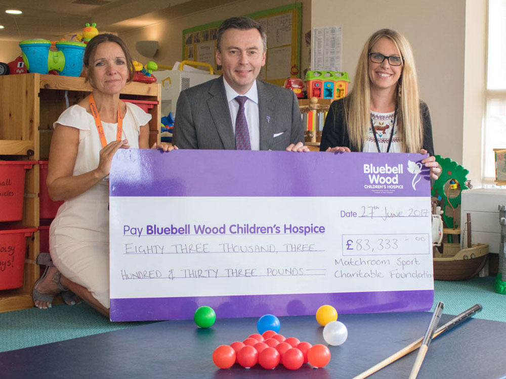 Matchroom Foundation helps to fund nurses at Bluebell Wood Children's Hospice for the next three years