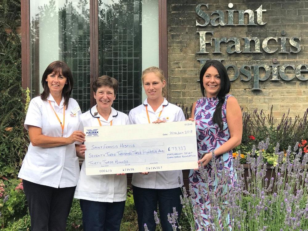 Matchroom Foundation pledges long term support for Saint Francis Hospice