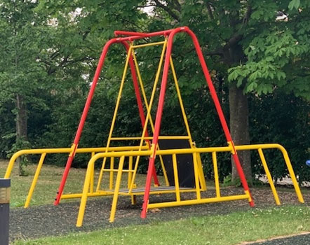 Foundation contributes to a wheelchair accessible swing for local school